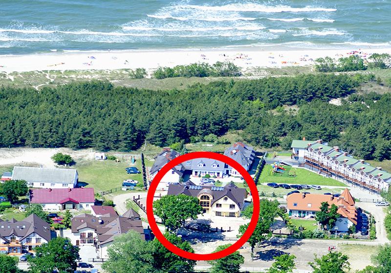 Rowy - Villa Baltica z lotu ptaka